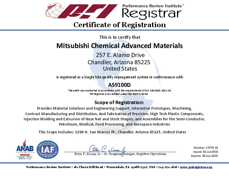Mitsubishi Chemical Advanced Materials: Engineered Solutions